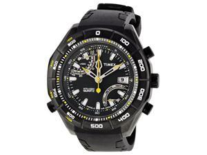 Timex Expedition Premium IQ Altimeter Black Ion-plated Mens Watch T2N729