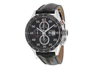 Tag Heuer Carrera Calibre 1887 Chrono Black Dial Steel Mens Watch CAR2A10FC6235