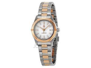 Tag Heuer Aquaracer White Dial 18kt Rose Gold Steel Ladies Watch WAP1450BD0837