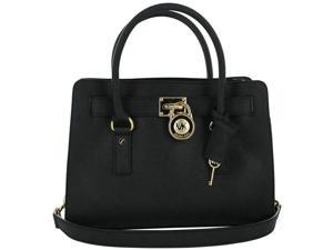 Michael Kors Hamilton Satchel Handbag - Black