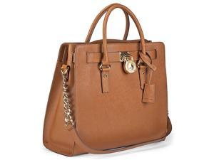Michael Kors Hamilton Satchel Handbag in Luggage - Tan