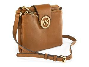 Michael Kors Large Fulton Pebbled Crossbody Handbag - Brown