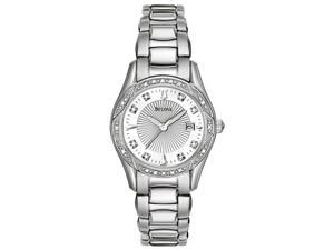 Bulova Ladies Diamond Quartz Stainless Steel Watch