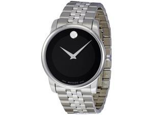 Movado Stainless Steel Black Museum Dial Mens Watch 0606504