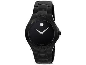 Movado Black Dial Black PVD Stainless Steel Mens Watch 0606536