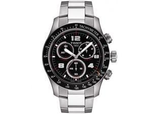 Tissot V8 Chronograph Black Dial Mens Watch T0394171105702