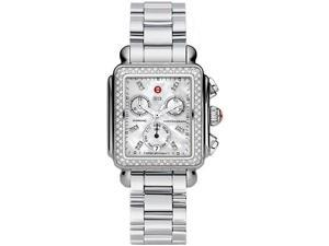 Michele Deco Day Mother of Pearl Stainless Steel Ladies Watch MWW06P000110