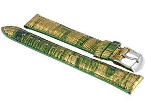 Michele Gold Multi Fashion Lizard 16 mm Strap MS16AA610837
