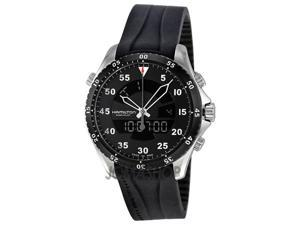Hamilton Flight Timer Chronograph Black Dial Rubber Mens Watch H64554331