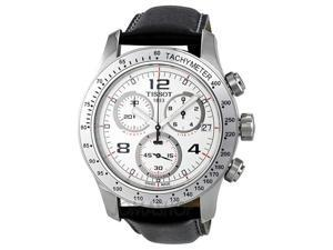 Tissot V8 Chronograph White Dial Stainless Steel Mens Watch T0394171603702