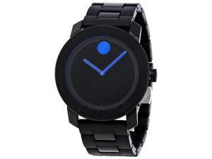 Movado Bold 42 mm Black Dial TR90/Polyurethane Steel Unisex Watch 3600099