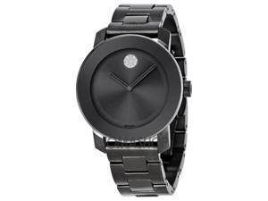 Movado Bold Grey Metallic Grey ion-Plated Stainless Steel Mens Watch 3600103