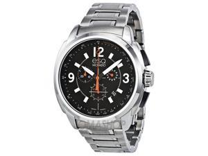 ESQ by Movado Excel Chronograph Black Dial Stainless Steel Mens Watch 07301415