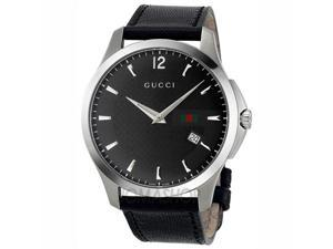 Gucci G-Timeless Black Dial Stainless Steel Mens Watch YA126304