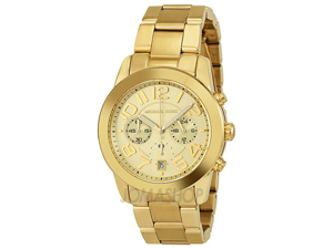 Michael Kors Mercer Chronograph Gold-Tone Ladies Watch MK5726