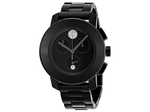 Movado Bold Chronograph Grey Dial Grey IP Stainless Steel Ladies Watch 3600143