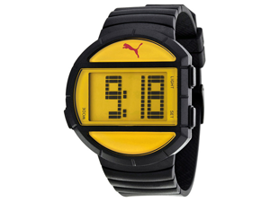 Puma PU910891003 Half Time Yellow Digital Black Polyurethane Men's Watch
