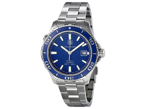 Tag Heuer Aquaracer Calibre 5 Blue Dial Steel Mens Watch WAK2111.BA0830