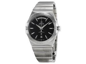 Omega Constellation Day Date Black Dial Steel Mens Watch 123.10.38.22.01.001