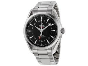 Omega Seamaster Aqua Terra GMT Black Dial Steel Mens Watch 231.10.43.22.01.001