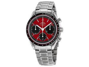 Omega Speedmaster Racing Chronograph Red Dial Steel Mens Watch 32630405011001