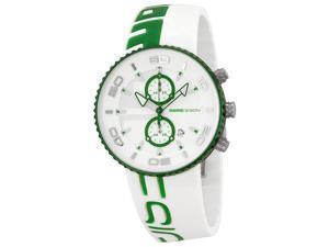 Momo Design Jet Chronograph Green & White Silicone Mens Watch MD4187AL-41