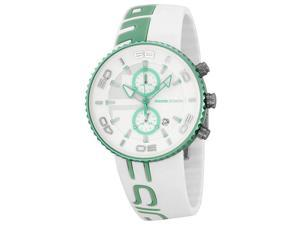 Momo Design Jet Aluminum Chrono White & Turquoise Silicone Watch MD4187AL-51