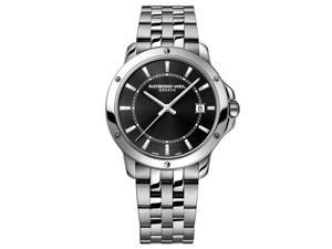 Raymond Weil Tango Black Dial Stainless Steel Mens Watch 5591-ST-20001