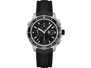Tag Heuer Aquaracer Black Dial Chronograph Black Rubber Mens Watch CAK2110FT8019
