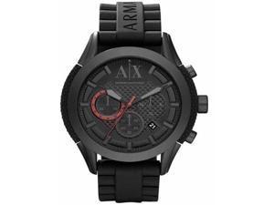 Armani Exchange Zulu Blackout Men's Watch - Black Dial, Black Silicone Rubber