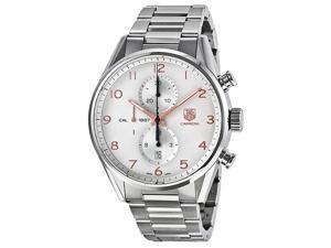 Tag Heuer Carrera Chronograph Silver Dial Steel Mens Watch CAR2012.BA0799