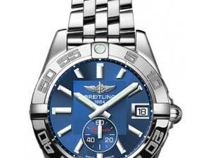 Breitling Galactic 36 Blue Dial Stainless Steel Mens Watch A3733012-C824SS