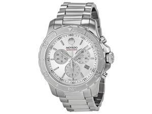 Movado Series 800 Chronograph Silver Dial Stainless Steel Mens Watch 2600111
