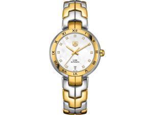 Tag Heuer Link Mother of Pearl Diamond 18k Gold Ladies Watch WAT2351BB0957