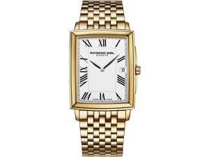 Raymond Weil Tradition White Dial Gold Metal Mens Watch 5456-P-00300