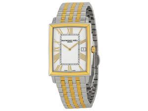 Raymond Weil Tradition White Dial Two Tone Steel Mens Watch 5456-STP-00308