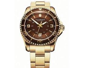 Victorinox Swiss Army Maverick Brown Dial Gold PVD Mens Watch 241607