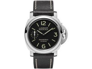 Panerai Luminor Marina Black Dial Black Leather Mens Watch PAM00510