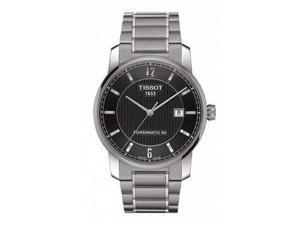 Tissot T-Classic Automatic Black Dial Two-tone Mens Watch T0874074405700