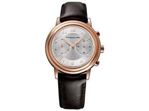 Raymond Weil 4830-PC5-05658 Maestro Silver Dial Chrono Brown Leather Men's Watch