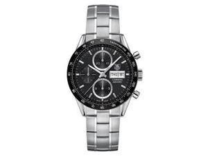 Tag Heuer Carrera Chronograph Black Dial Steel Mens Watch CV201AGBA0725