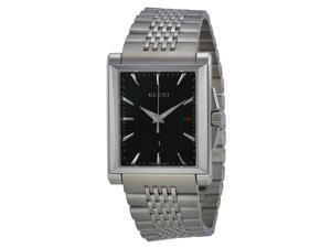Gucci G-Timeless Black Dial Stainless Steel Ladies Watch YA138401