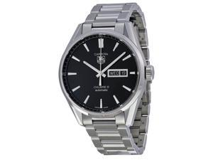 Tag Heuer Carrera Automatic Black Dial Stainless Steel Mens Watch WAR201ABA0723