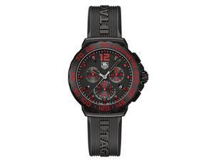 Tag Heuer Formula 1 Chrono Black & Red Dial Black Rubber Watch CAU111DFT6024