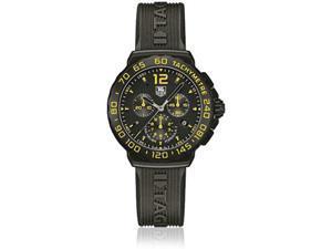 Tag Heuer Formula 1 Chrono Black & Yellow Dial Black Rubber Watch CAU111EFT6024