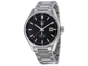 Tag Heuer Carrera Dual Time Black Dial Stainless Steel Mens Watch WAR2010BA0723