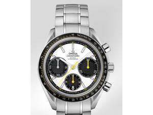 Omega Speedmaster Racing Co-Axial White Dial Steel Mens Watch 32630405004001