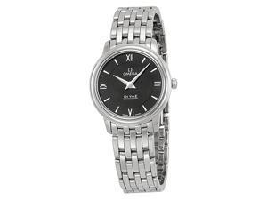 Omega DeVille Prestige Black Dial Stainless Steel Ladies Watch 42410276001001