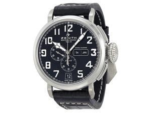 Zenith El Primero Pilot Chronograph Black Dial Mens Watch 03.2430.4054/21.C721
