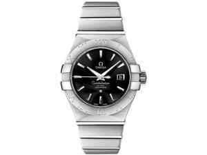 Omega Constellation Black Dial Steel Diamond Ladies Watch 123.10.31.20.01.001